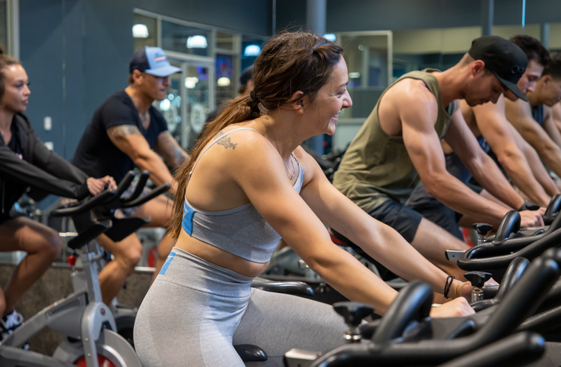 Cycling class at Fitness 19